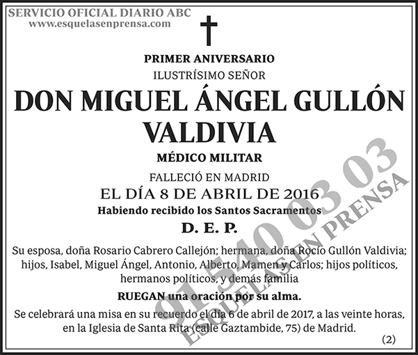 Miguel Ángel Guillón Valdivia